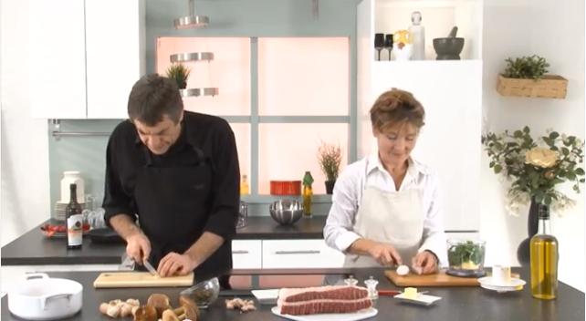 Préparation d'un rôti de viande de Cheval