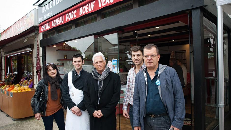 Inauguration de la Boucherie Robert à Sainte Geneviève des Bois – Inauguration boucherie chevaline 91